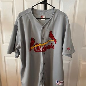 Cardinals Majestic Road Gray Flex Team Jersey